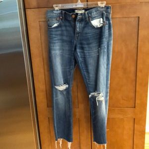 Madewell cropped jeans